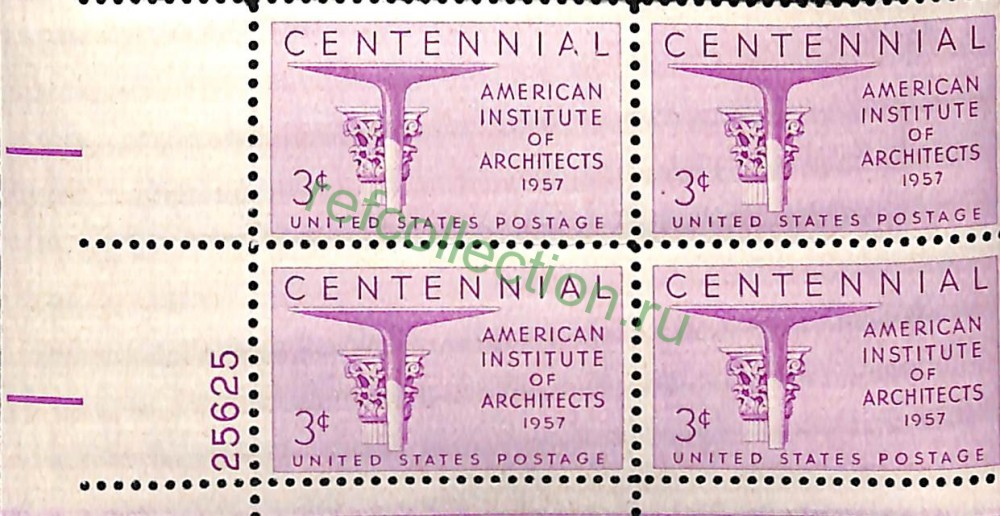 Марка Centennial American Institute Of Architects United States Postage